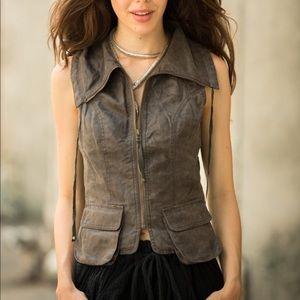 MIILA Faux Leather Vest.
